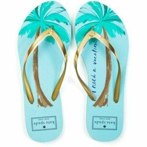 KATE SPADE Nassau I NEED A VACATION Flip Flops